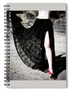 Ameynra Gothic Fashion By Sofia Metal Queen. Lace Skirt 168 Spiral Notebook