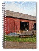 Amish Barn At Sunrise Spiral Notebook