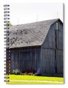 Amish Barn With Gambrel Roof And Hay Bales Indiana Usa Spiral Notebook