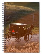 Amish Buggy Afternoon Sun Spiral Notebook