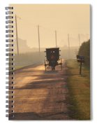 Amish Buggy And Corn Over Your Head Spiral Notebook