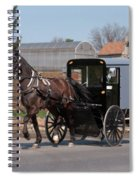 Amish Buggy And High Stepper Spiral Notebook