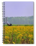 Amish Buggy And Yellow Field Spiral Notebook