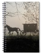 Amish Buggy Foggy Sunday Spiral Notebook