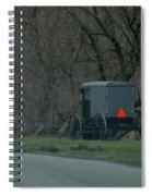 Amish Buggy Parked By A Creek Spiral Notebook