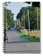 Amish Buggy Sunny Summer Spiral Notebook