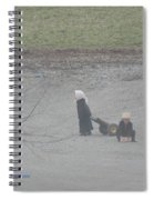 Amish Children Play Outside In The Evening Spiral Notebook