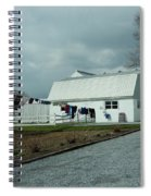 Amish Clothesline And A Barn Spiral Notebook