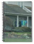 Amish Clothing Hanging To Dry Spiral Notebook