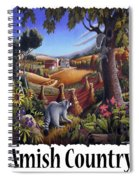 Amish Country - Coon Gap Holler Country Farm Landscape Spiral Notebook