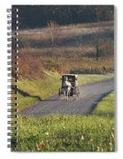 Amish Country Horse And Buggy In Autumn Spiral Notebook