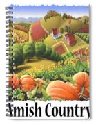 Amish Country - Pumpkin Patch Country Farm Landscape Spiral Notebook