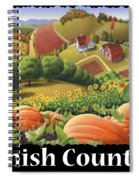 Amish Country T Shirt - Appalachian Pumpkin Patch Country Farm Landscape 2 Spiral Notebook