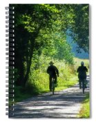 Amish Couple On Bicycles Spiral Notebook