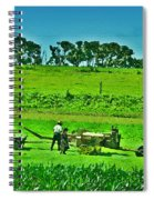 Amish Gathering Hay Spiral Notebook