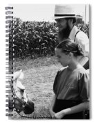 Amish Girl And Pony Spiral Notebook