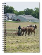 Amish Girl Raking Hay Photo Spiral Notebook