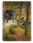 Amish Horse And Buggy Crossing A Bridge Spiral Notebook