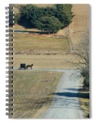 Amish Horse And Buggy On A Country Road Spiral Notebook