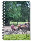 Amish Lady Disking Spiral Notebook
