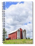 Amish Red Barn And Silos Spiral Notebook