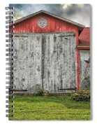 Amish Red Barn Spiral Notebook