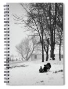 Amish Sled Ride Spiral Notebook
