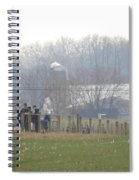 Amish Youth Gather After A Volleyball Game Spiral Notebook