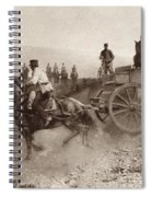 Ammunition Wagons Of An Italian Field Spiral Notebook