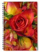 Among The Rose Leaves Spiral Notebook