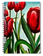 Among The Tulips Spiral Notebook