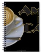 Amore Del Caffe Poster Spiral Notebook