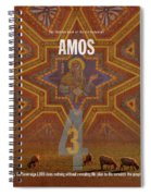 Amos Books Of The Bible Series Old Testament Minimal Poster Art Number 30 Spiral Notebook