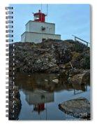 Amphitrite Point Lighthouse Reflections Spiral Notebook