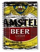 Amstel Beer Sign  Spiral Notebook