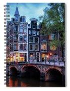 Amsterdam At Twilight Spiral Notebook