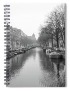 Amsterdam Canal Black And White 2 Spiral Notebook