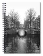 Amsterdam Canal Bridge Black And White Spiral Notebook