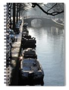 Amsterdam Canal In Winter Spiral Notebook