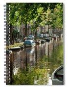Amsterdam Canal Spiral Notebook