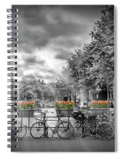 Amsterdam Gentlemens Canal Typical Cityscape Spiral Notebook