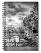 Amsterdam In Monochrome  Spiral Notebook
