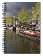 Amsterdam Prinsengracht Canal Spiral Notebook