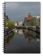 Amsterdam - Singel Canal With The Floating Flower Market Spiral Notebook