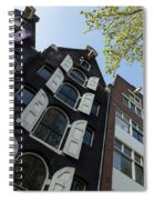 Amsterdam Spring - Arched Windows And Shutters - Right Spiral Notebook