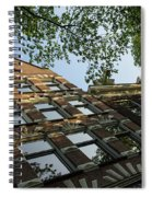 Amsterdam Spring - Fancy Brickwork Glow - Left Horizontal Spiral Notebook