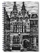 Amsterdam Woodcut Spiral Notebook