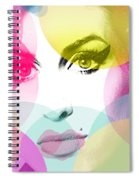 Amy Portrait Pink Yellow  Spiral Notebook