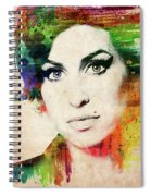 Amy Winehouse Colorful Portrait Spiral Notebook