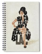 Amy Winehouse Typography Art Spiral Notebook